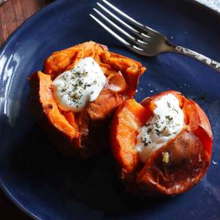 Salt Roasted Sweet Potatoes