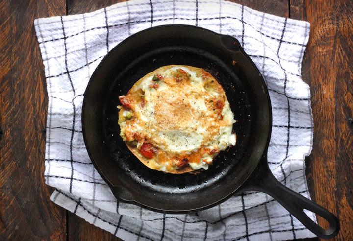 fried egg quesadilla 1