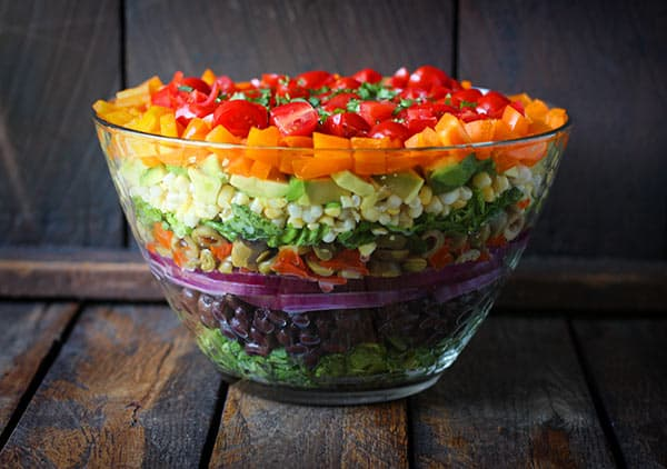 Image result for 7 layer salad no mayo