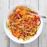 Rainbow Ribbon Veggie Salad | SoupAddict.com