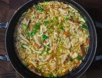 Thai Ramen Noodle Chicken Soup | SoupAddict.com - a hearty chicken soup with rich, Thai-inspired flavors.