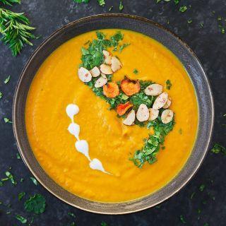 Carrot Turmeric Miso Soup from SoupAddict.com