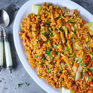 Vegetarian Paella | Recipe at SoupAddict.com