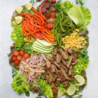 Beef Fajita Salad with Creamy Salsa Dressing | Recipe at SoupAddict.com