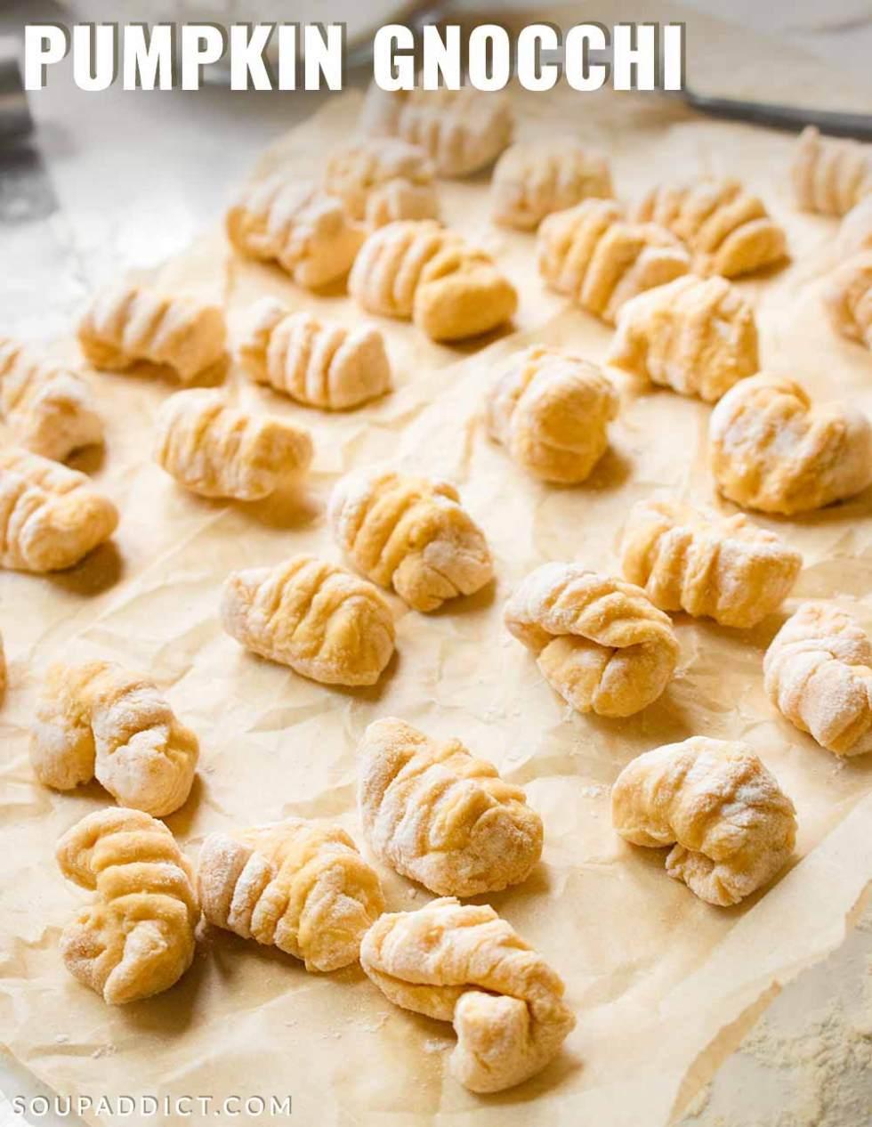 Pumpkin Gnocchi - Recipe at SoupAddict.com