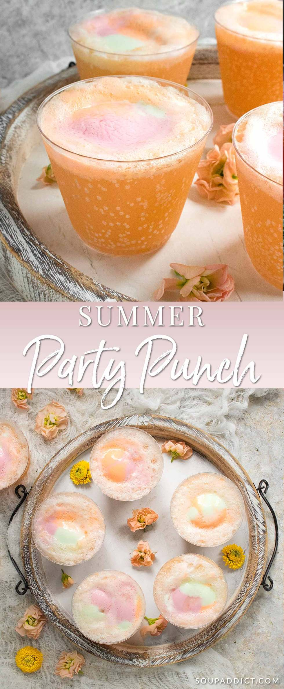 Summer Party Punch - Recipe at SoupAddict.com