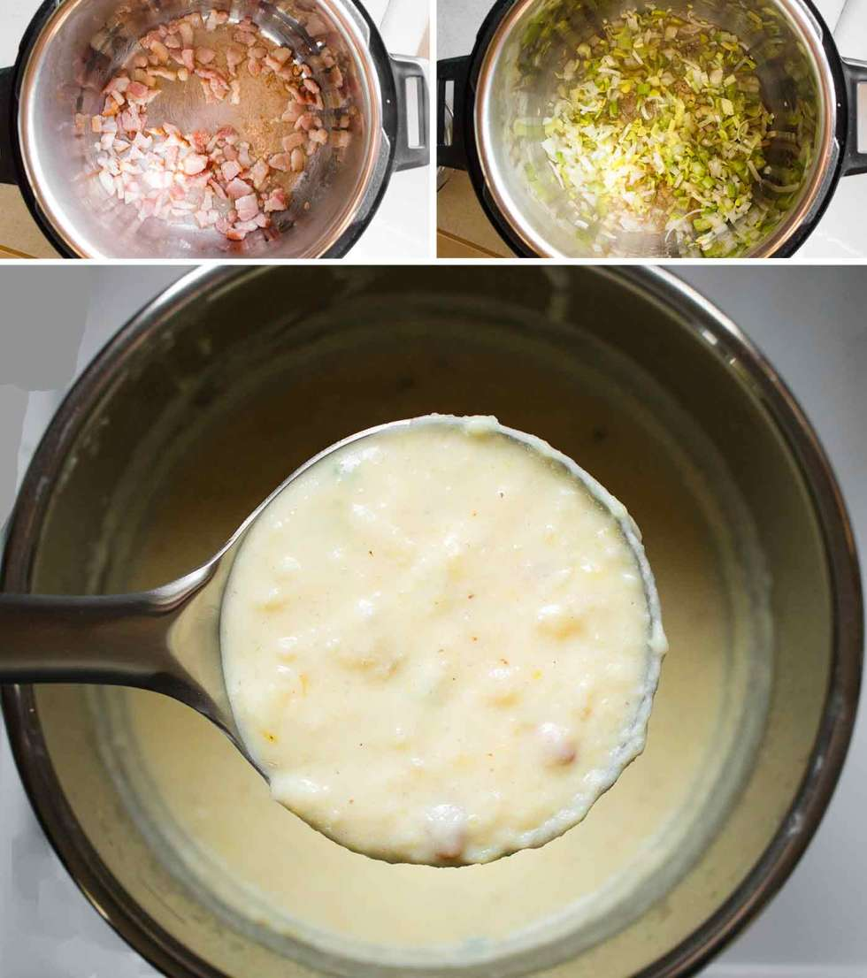 Instant Pot Loaded Potato Soup made in the Instant Pot
