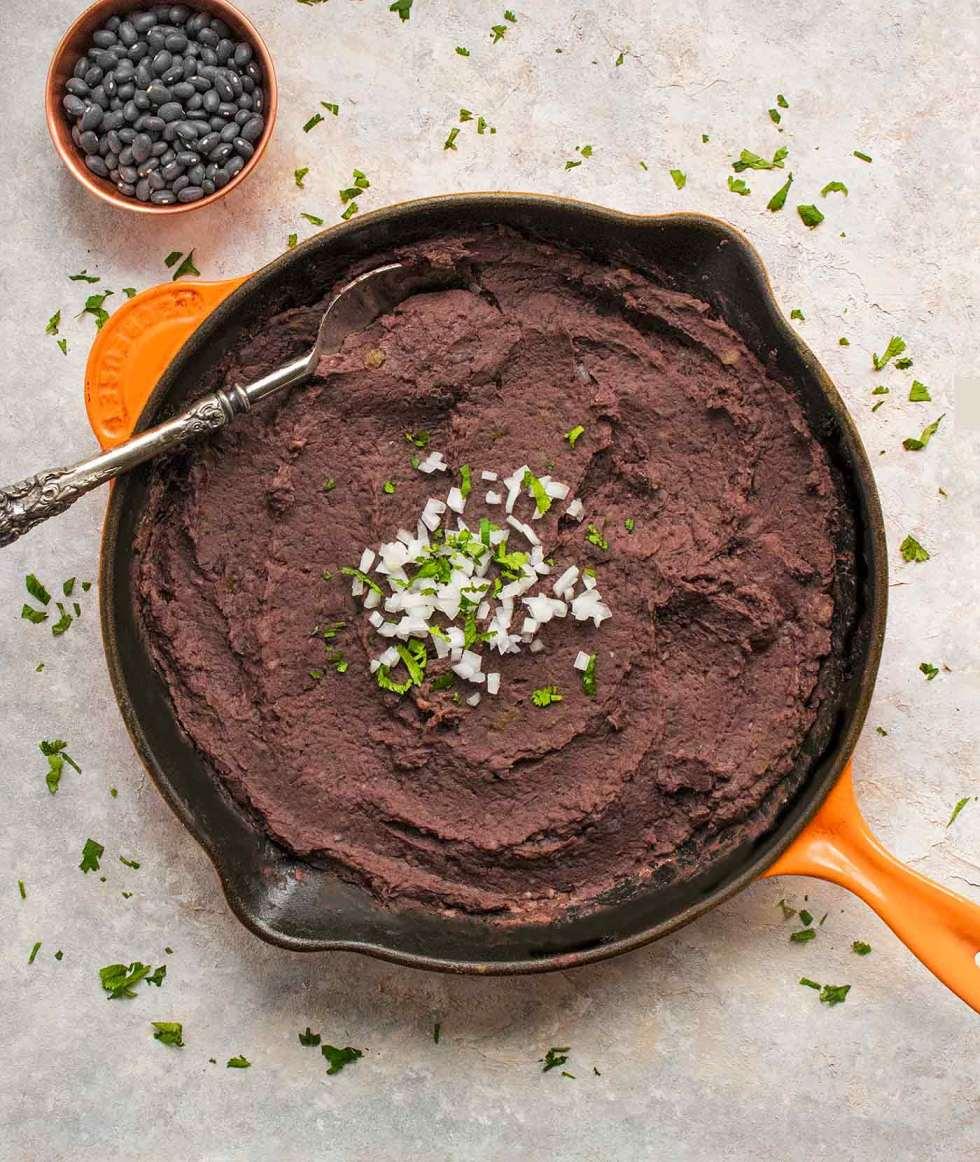 Instant pot refried black beans