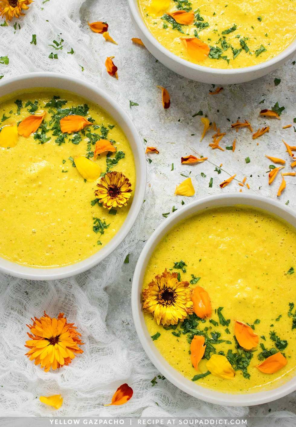 Yellow Gazpacho - The Best Summer Gazpacho - Recipe at SoupAddict.com