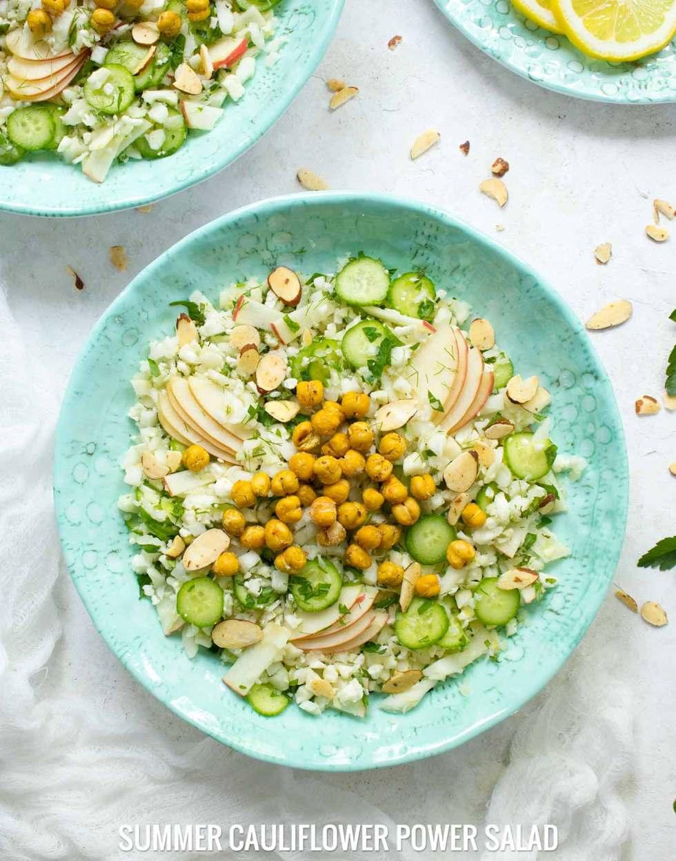 Summer Cauliflower Power Salad - Recipe at SoupAddict.com