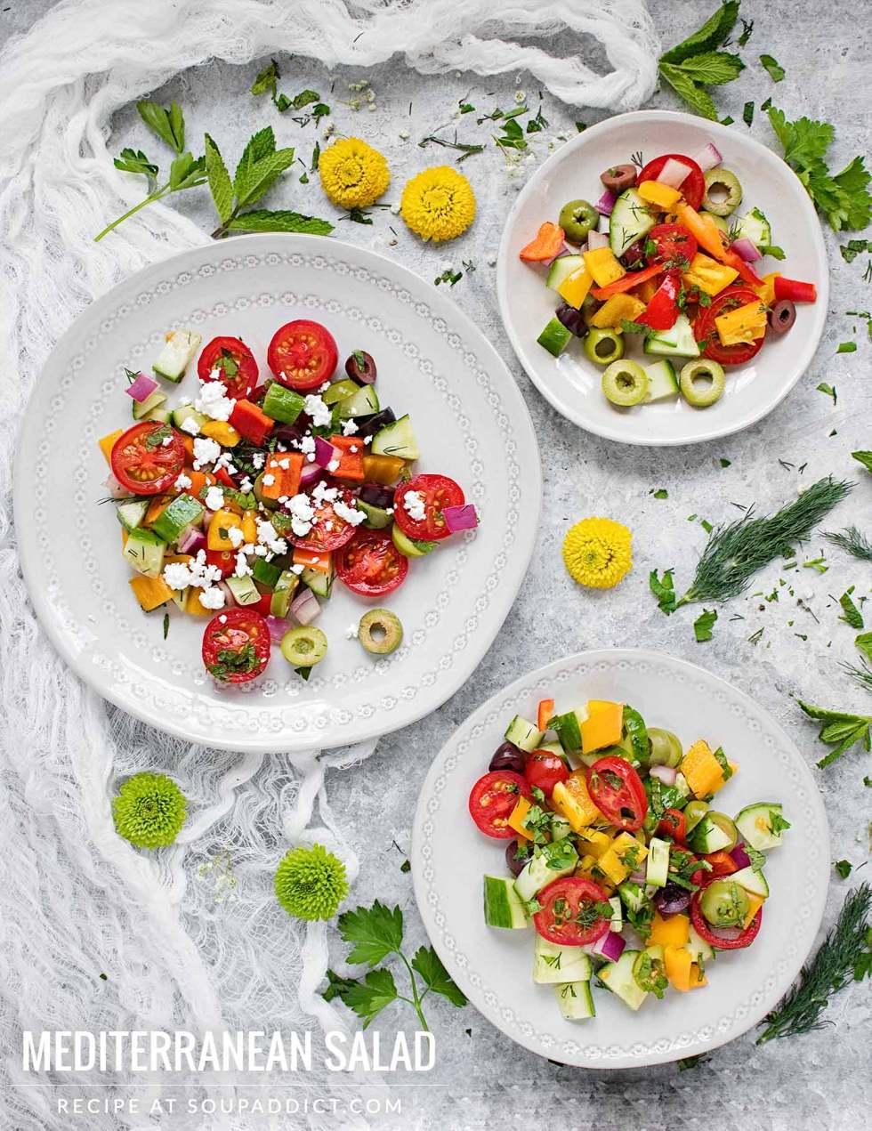 Mediterranean Salad - Recipe at SoupAddict.com