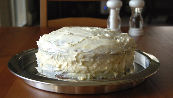 Banana Bread Cake with Chantilly Filling and Cream Cheese Frosting