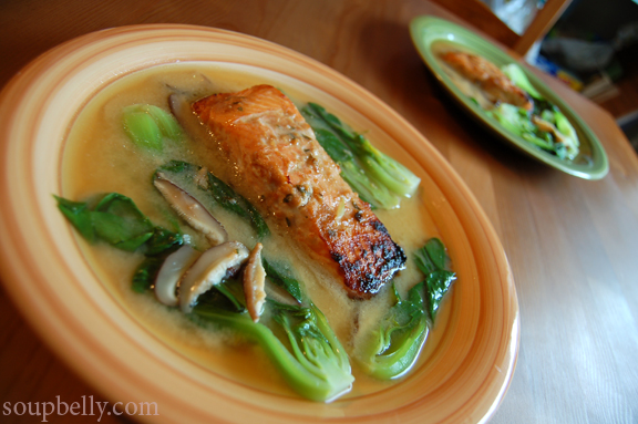 Miso Marinated Broiled Salmon