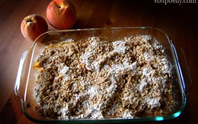 Peach & Berry Crumble