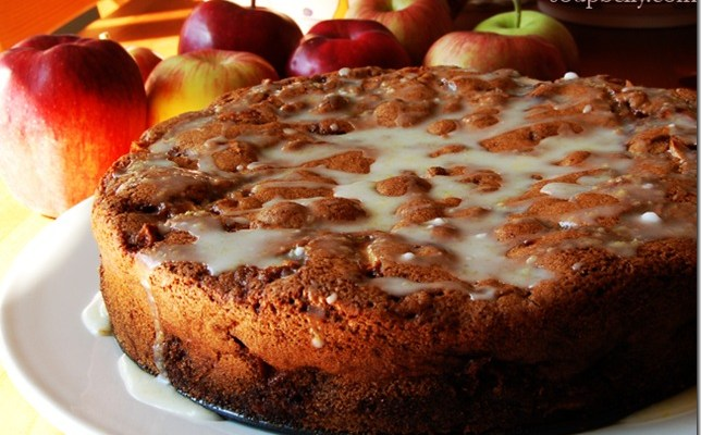 Apple Cake with Lemon Icing!