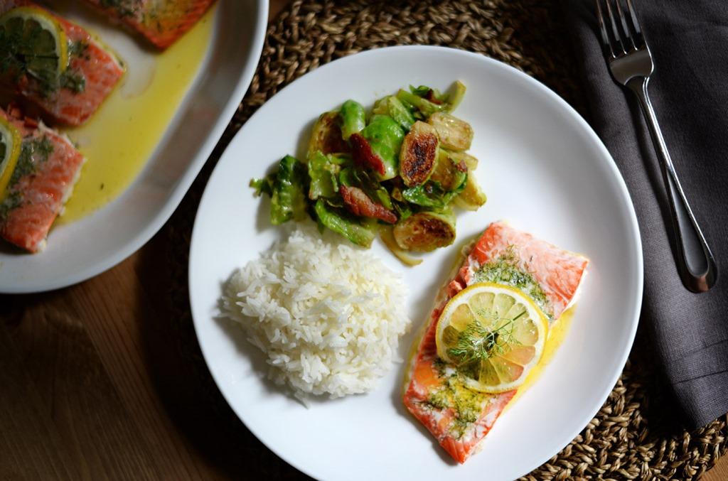 Lemon Dill Butter Salmon