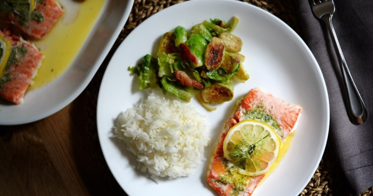 Lemon Dill Butter Salmon
