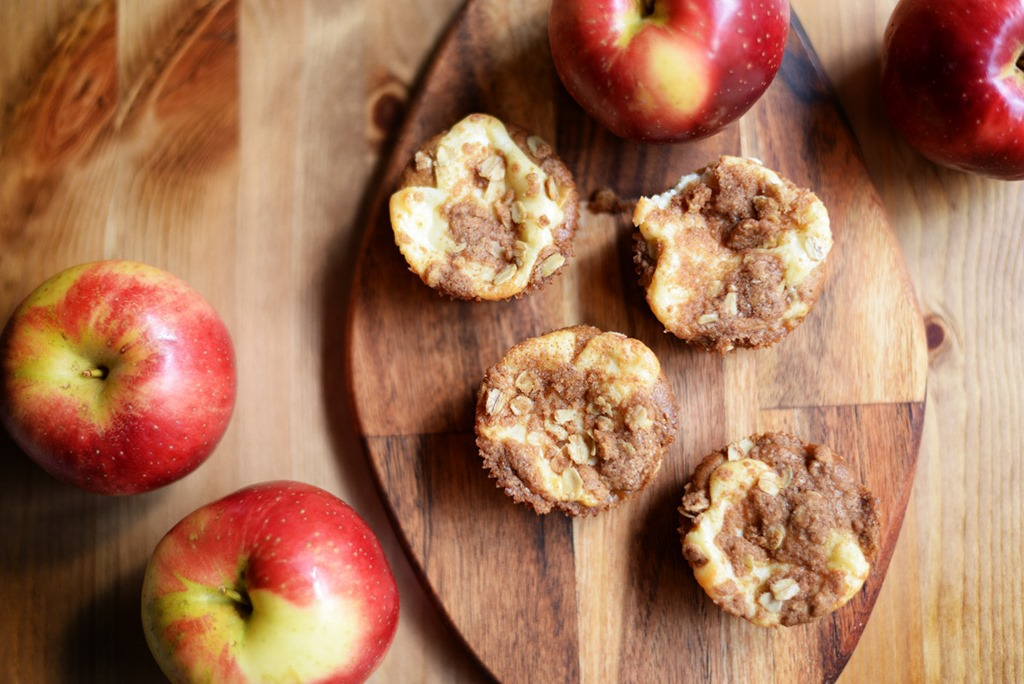 Apple Streusel Cream Cheese Muffins