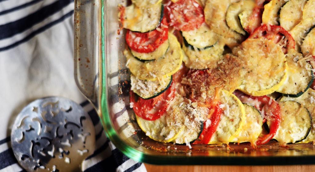 Squash and Tomato Casserole