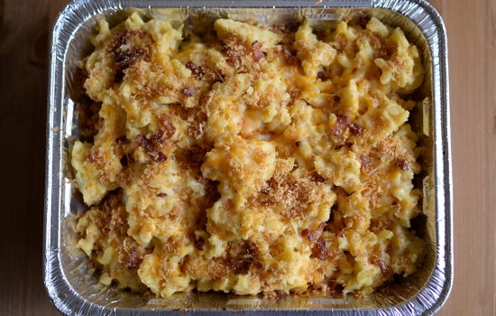 Three Cheese Mac & Cheese with Bacon and Panko Topping