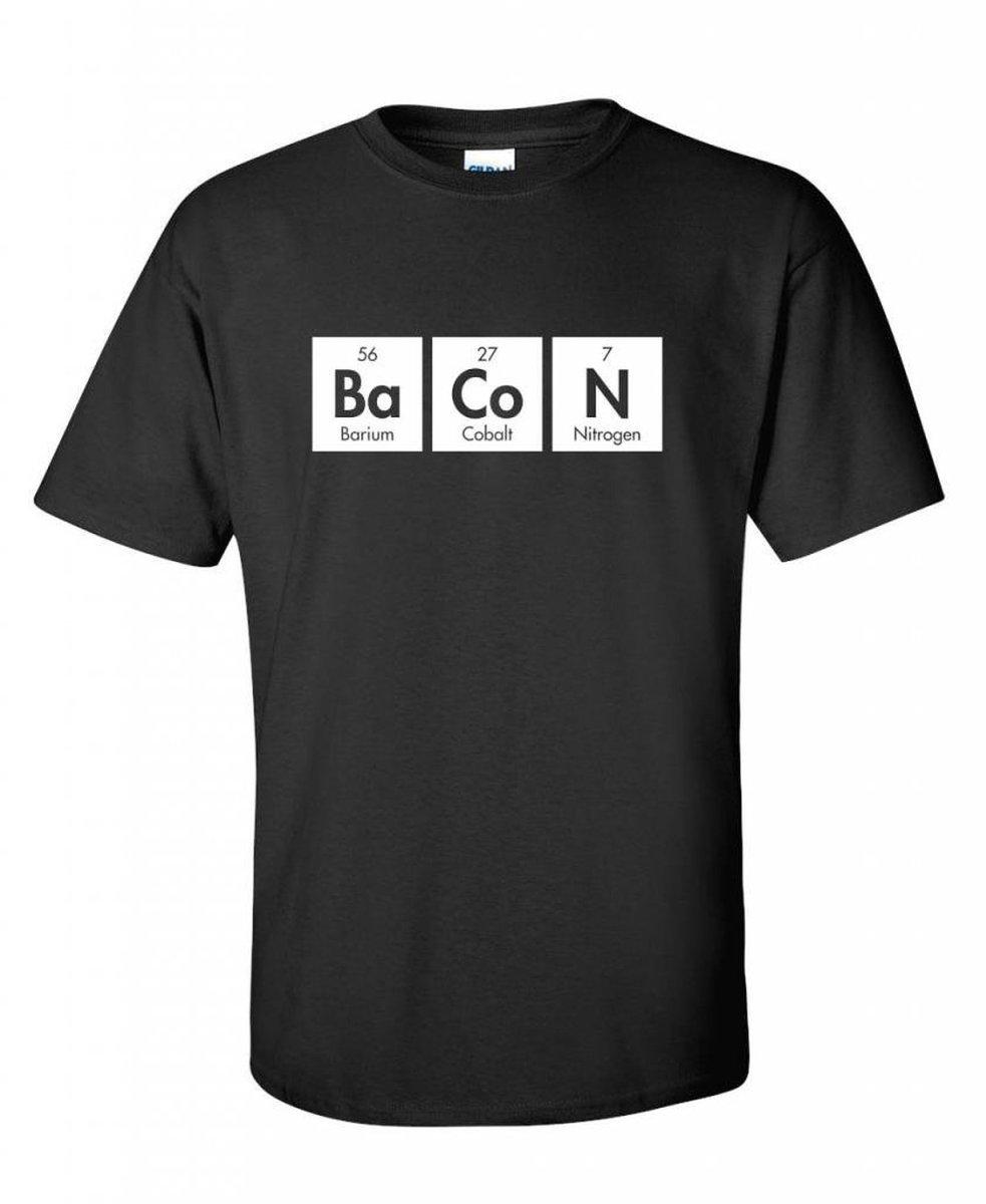 Bacon periodic table t shirt souper geek gamestrikefo Choice Image