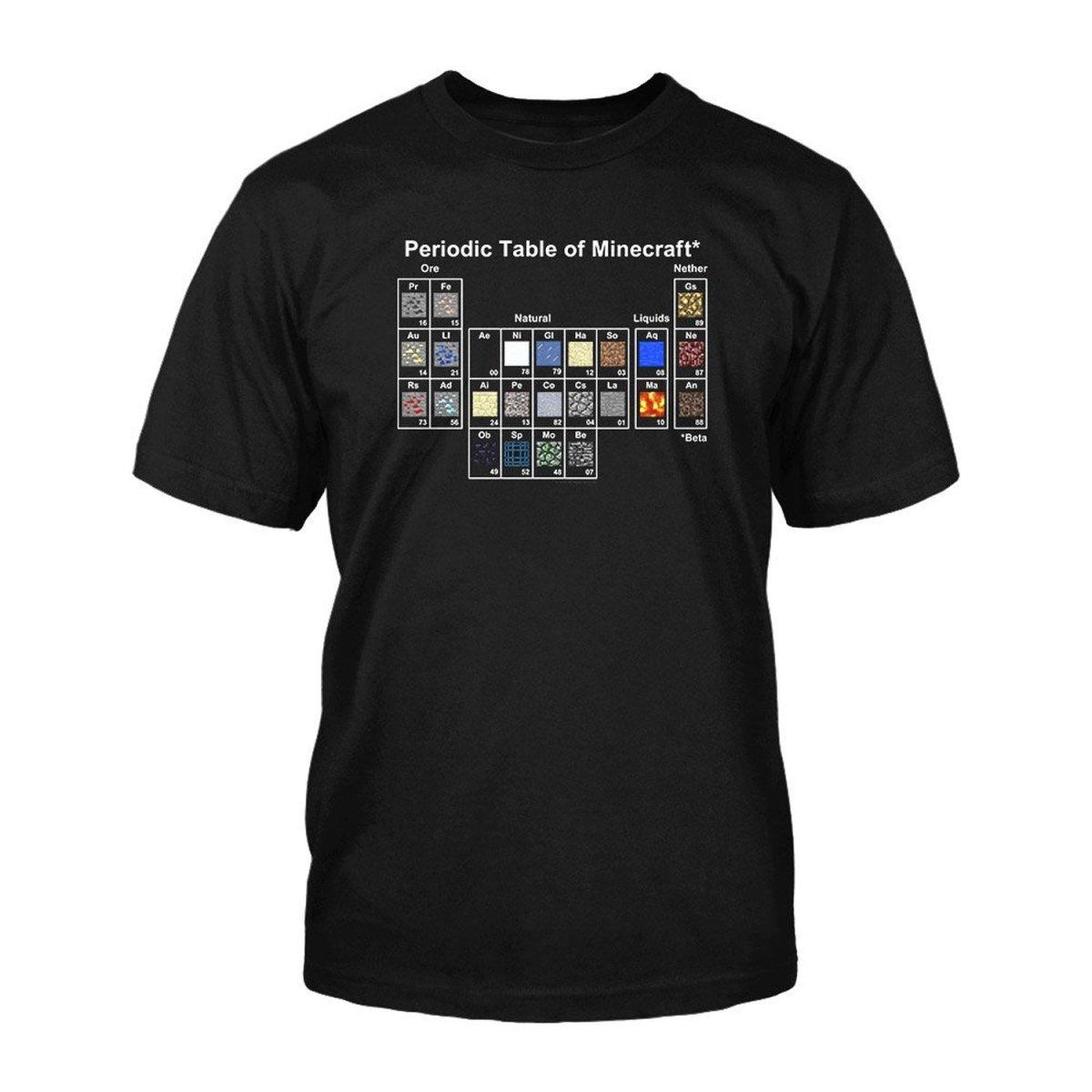 Minecraft periodic table t shirt souper geek gamestrikefo Choice Image