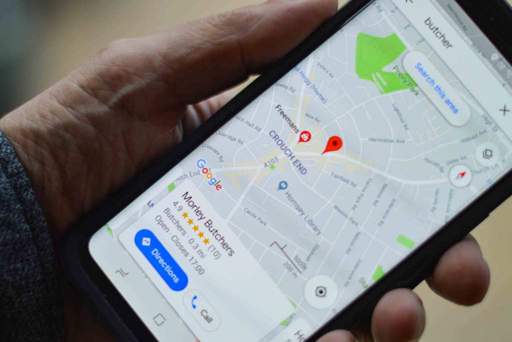 Smartphone com Google My Business