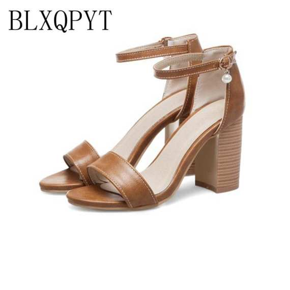 BLXQPYT Real Sandalias Mujer Big Size 32-50 Shoes Women Sandals High Heels Sapato Feminino Summer Style Chaussure Femme T8611