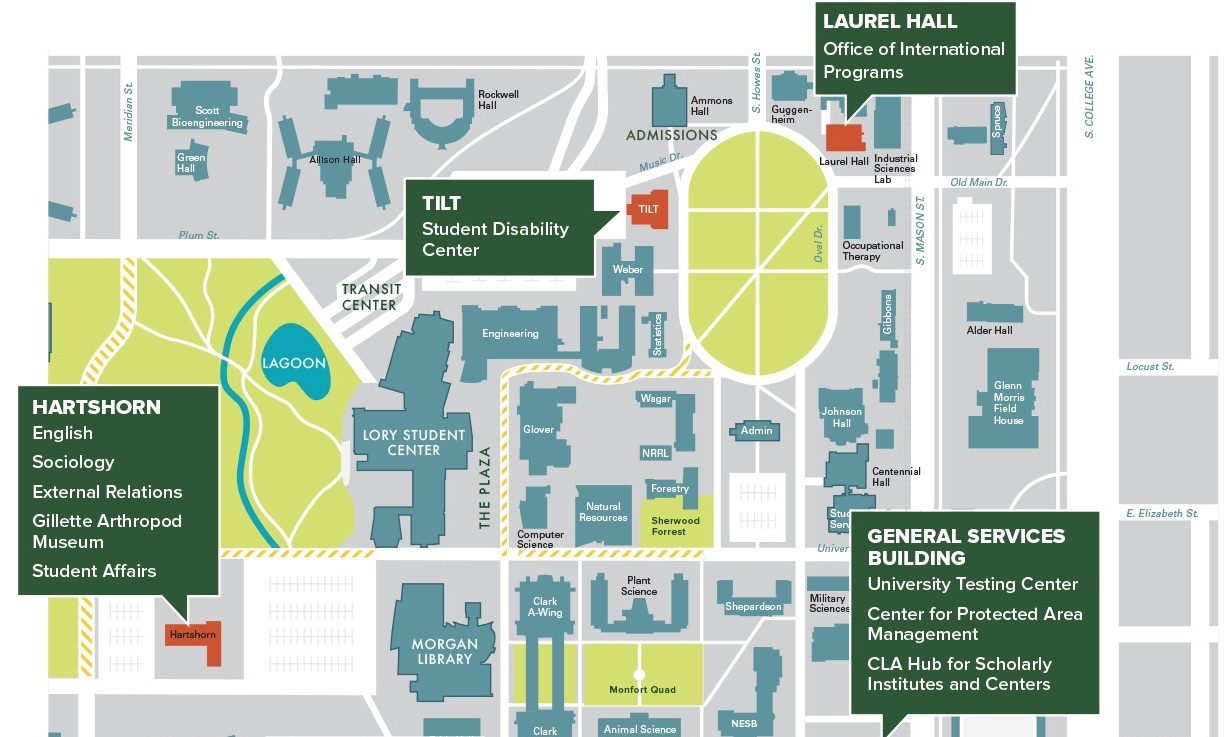 Campus Colorado State University Map