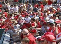 Washington University alumni, parents and friends shared a reserved section at the game. (Reinhold Matay)