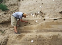 Each summer, Professor Kidder continues to assist Chinese researchers at Sanyangzhuang with studying the layers in the sediment — first to date them and to get a better picture of the flooding through excavations. (Courtesy Photo)