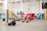 The set of the OK Go video The Writing's on the Wall.