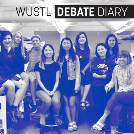 WUSTL Debate Diary. Photo: Ria Han