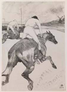 "Henri de Toulouse-Lautrec (French, 1864–1901), ""Le jockey (The Jockey),"" 1899. Lithograph, 20 1/4 x 14 3/16"". Saint Louis Art Museum, Bequest of Horace M. Swope, 625:1940."