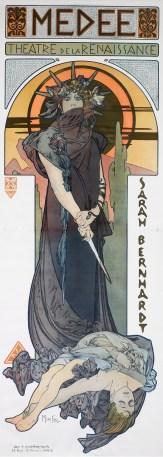"Alphonse Mucha (Czech, 1860–1939), ""Médée (Medea),"" 1898. Lithograph, 81 x 29 1/4"" (image). Collection of Mary Strauss."