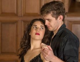 Josh Parrack and Caroline Sullivan as Macbeth and Lady Macbeth. (Photo: Joe Angeles/Washington University)