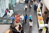 people at health fair