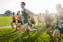 cross-country team runs