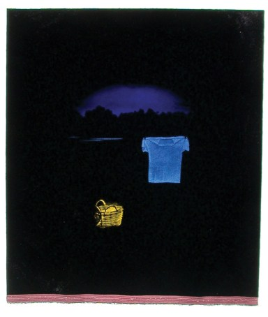 "Christine Carr, ""Yellow Baskets"" (2003)."
