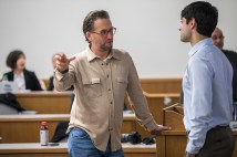 Ben Weiss talks to students