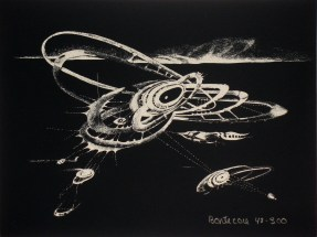 """Lee Bontecou, """"Untitled,"""" from the portfolio """"The New York Collection for Stockholm,"""" 1973. Screen print, 12 x 9"""". Mildred Lane Kemper Art Museum, Washington University in St. Louis. Gift of Arthur and Sheila Prensky, 2004."""