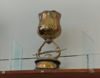 The trophy won by the Southwestern Amateur Rowing Association for a race at Creve Coeur Lake. It still remains on display at the crew team's boat house.