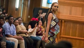 "The African Students Association held its 12th annual fashion show, this year titled ""African Royalty,"" in Tisch Commons on Feb. 23. (Photo: Whitney Curtis/Washington University)"