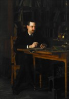 "Thomas Eakins (American, 1844–1916), Portrait of Professor W. D. Marks, 1886. Oil on canvas, 76 3/8 x 54 1/8"". Mildred Lane Kemper Art Museum, Washington University in St. Louis. University purchase, Yeatman Fund, 1936."