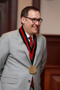 Andrew D. Martin speaks during his March 2013 installation ceremony as the Charles F. Nagel Chair of Constitutional Law and Political Science at Washington University. (Photo: Jerry Naunheim Jr./Washington University)