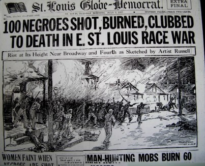 """A Centennial of a Divided City: East St. Louis and the 1917 Race Riot"" Jesse Vogler and Karla Scott organized a two-day symposium marking the 100th anniversary of the riot, in which more than 200 African-American men, women and children were murdered."