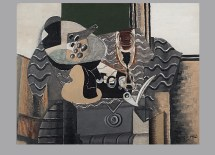 """Georges Braque, Still Life with Glass, 1930. Oil on canvas, 20 3/16 x 25 5/8"""". Mildred Lane Kemper Art Museum, Washington University in St. Louis. University purchase, Kende Sale Fund, 1946. © 2012 Artists Rights Society (ARS), New York / ADAGP, Paris."""