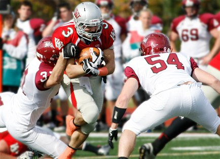 The football team defeated Carnegie Mellon 15–3 on their way to winning the AAU title. (Bill Stover)