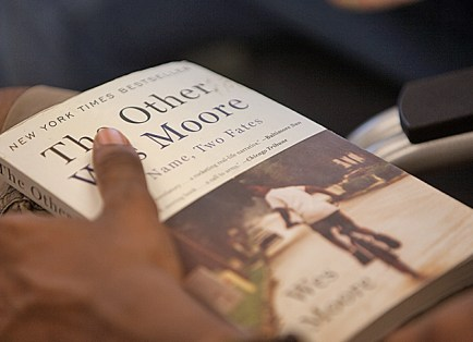 As part of Bear Beginnings: New Student Fall Orientation, all new students read an assigned book over the summer. This year's book was The Other Wes Moore: One Name, Two Fates. (Jerry Naunheim Jr.)