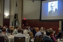 The 31st Annual Accounting Research Conference, held Nov. 15 at the Knight Executive Education Center, honored the late Nicholas Dopuch, professor emeritus, who died in February. (Photo: Whitney Curtis/Washington University)